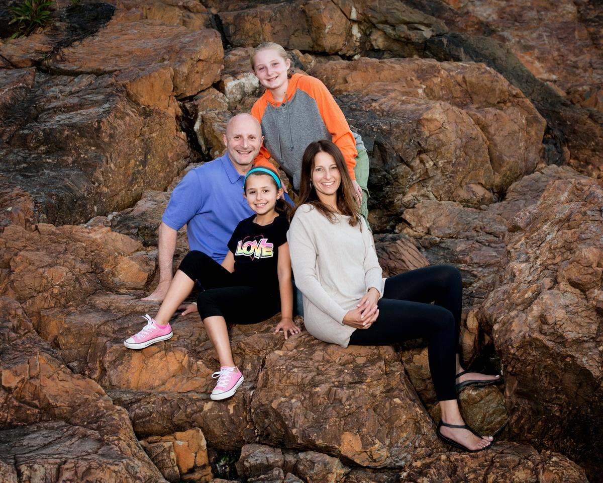 Family on the Rocks in Ogunquit Maine