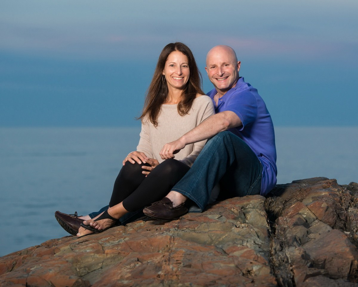 Husband and Wife on Marginal Way in Ogunquit, ME