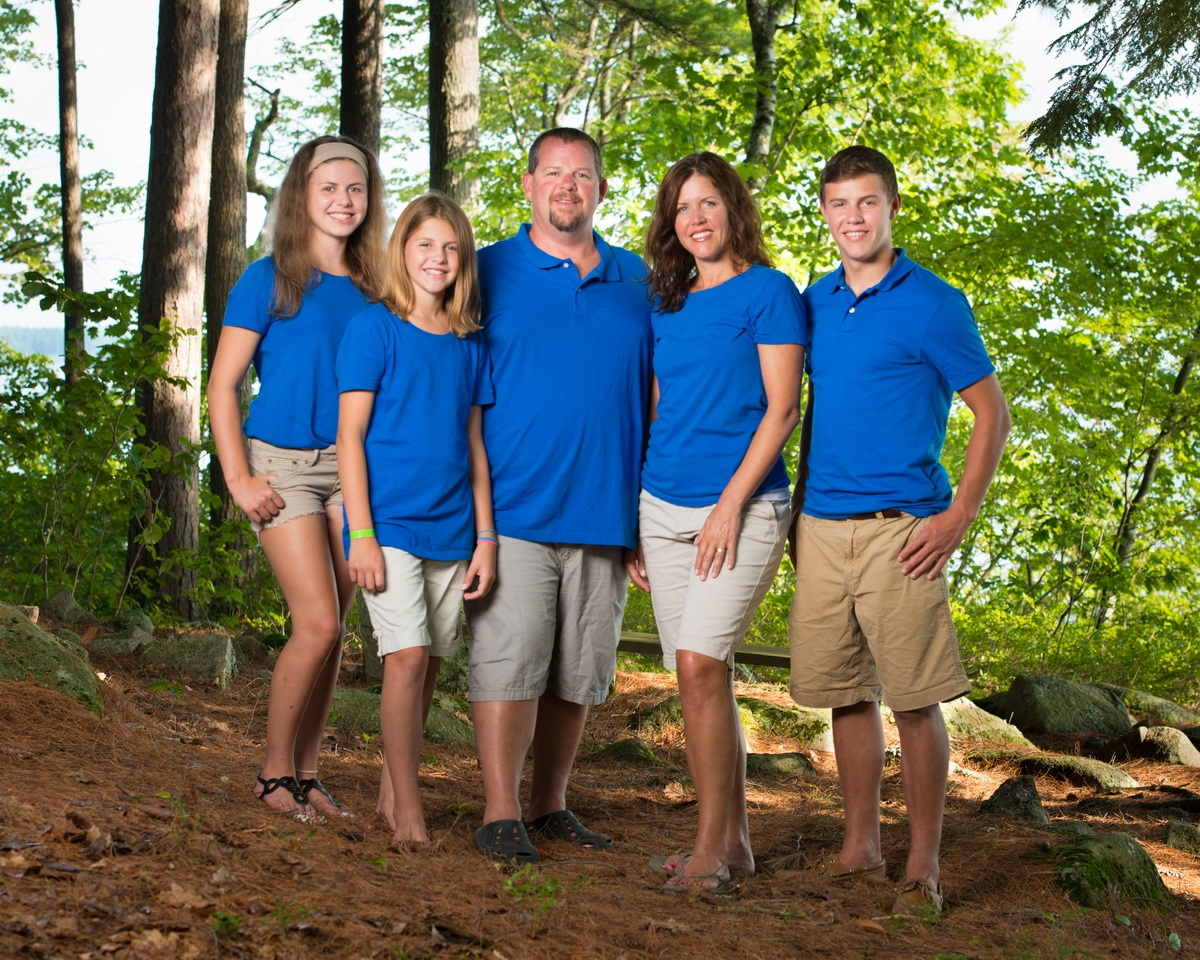 Maine Family Portrait in Sebago Lake