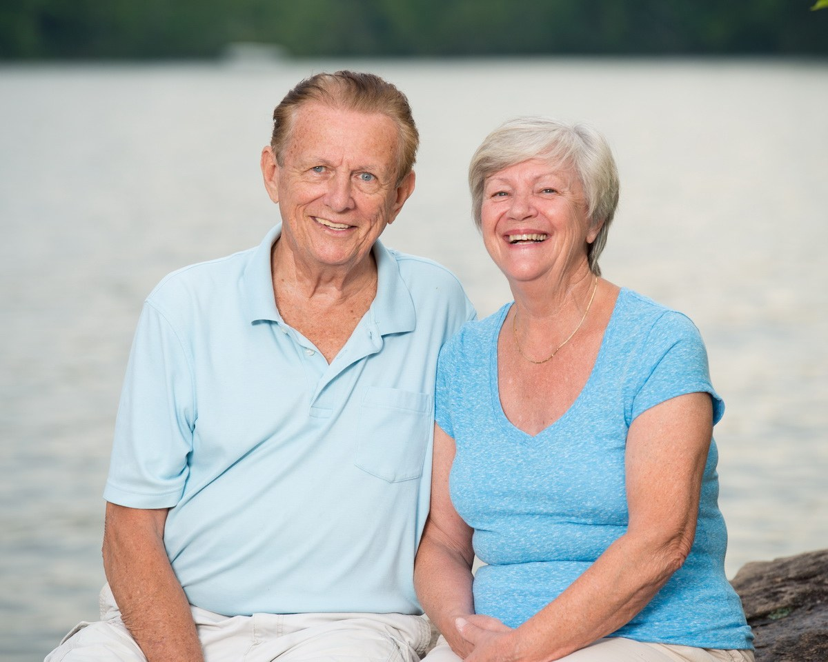 Grand Parents Portrait at Sebago Lake